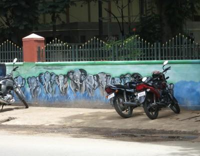 Роспись на улицах города
