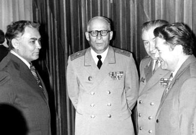 Терсков И.А. с космонавтами