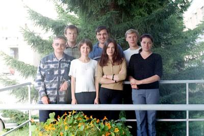 Аспиранты и сотрудники лаборатории АМИВ