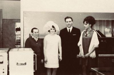 Черкасов В.А. в день регистрации брака