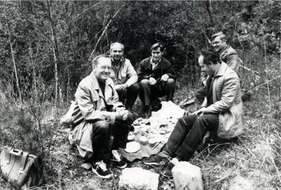 К.С. Александров с гостями