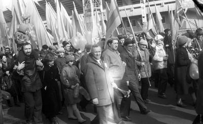 На первомайской демонстрации