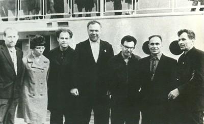 Проводы участников симпозиума, 1966 г.