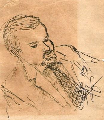 Портрет работы О.А. Баюкова