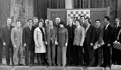 Участники сеанса одновременной игры с М.Талем