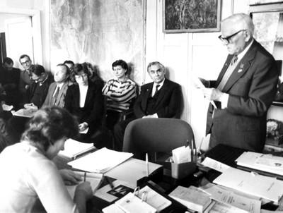 Встреча сотрудников отдела биофизики с В.А. Коптюгом