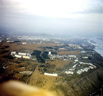 Вид сверху на Академгородок