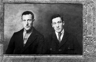 Л.В. Киренский с другом