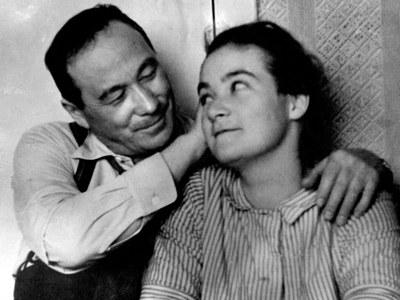Л.В. Киренский с дочерью Татьяной