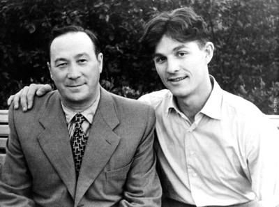 С зятем - Юрием Овчинниковым, 1956 г.