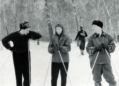 Зимние старты в роще Академгородка