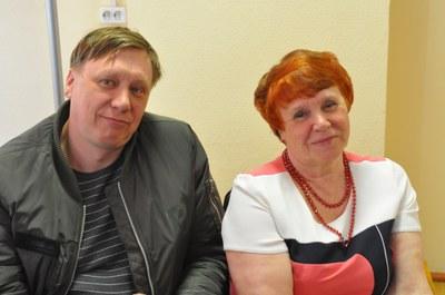 С. А. Кармацкий и Е. Д. Кармацкая (мама и сын)