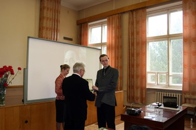 На праздновании 100-летнего юбилея  Л.В. Киренского