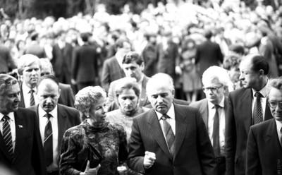 Приезд М.С. Горбачёва  и Р.М. Горбачёвой в Академгородк, 1988 г.